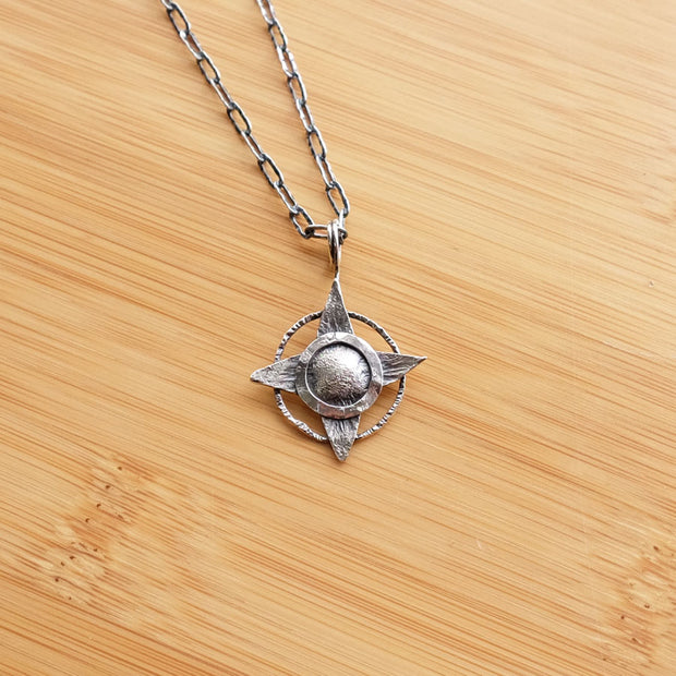 Silver Guiding Star Necklace