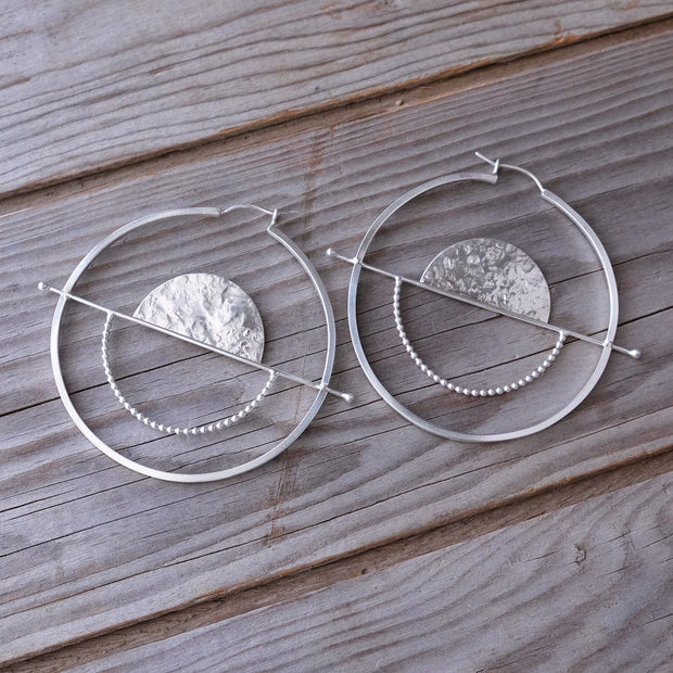 Silver Full Balance Hoops