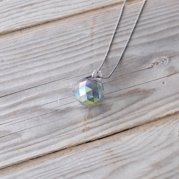 Sun-catching Glass Globe - Rose Green - Energy - Glass Sky Jewelry