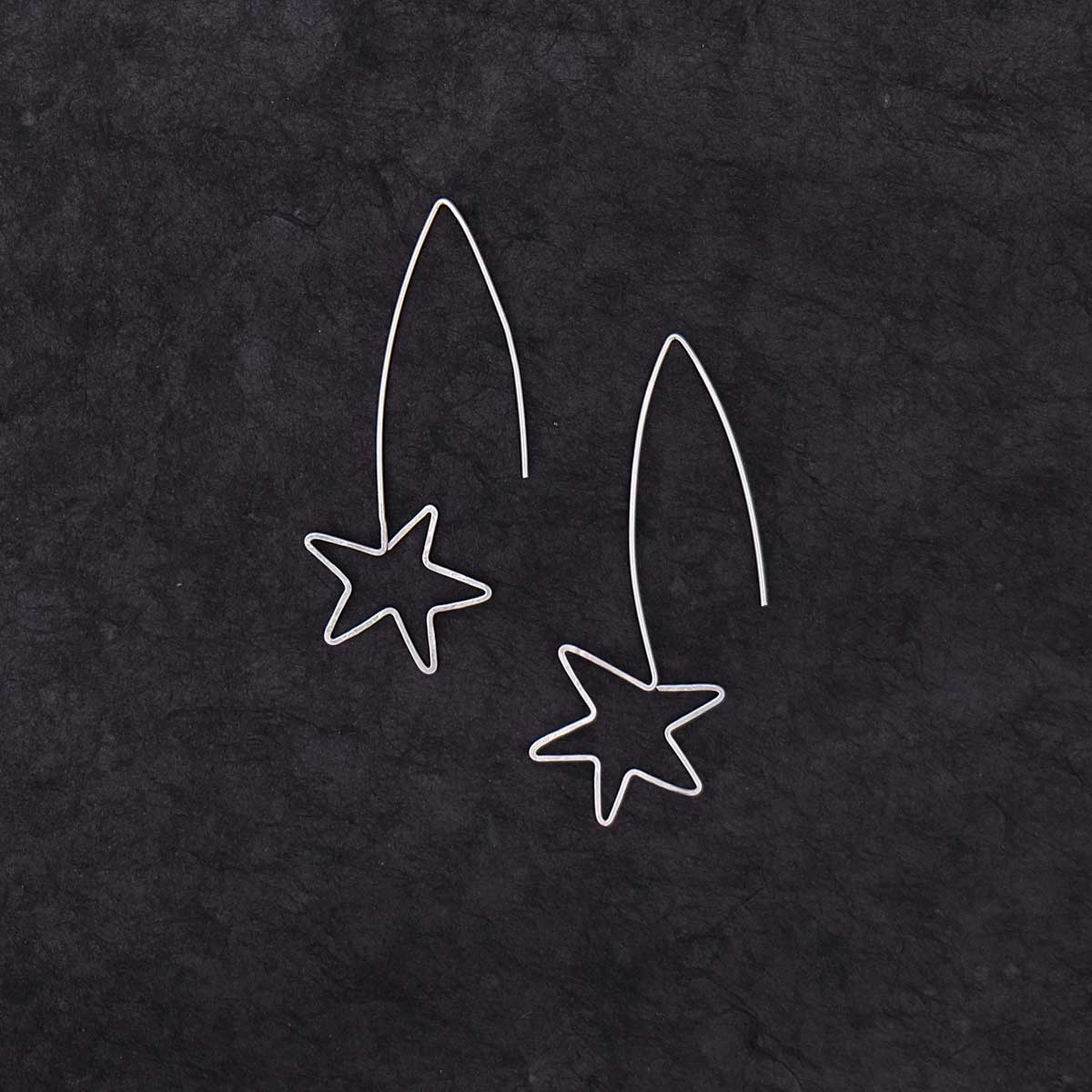 Falling Star Hook Earrings