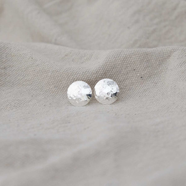 Glass Sky Jewelry - Full Moon Post Earrings - Sterling Silver Handmade Minimal Jewelry
