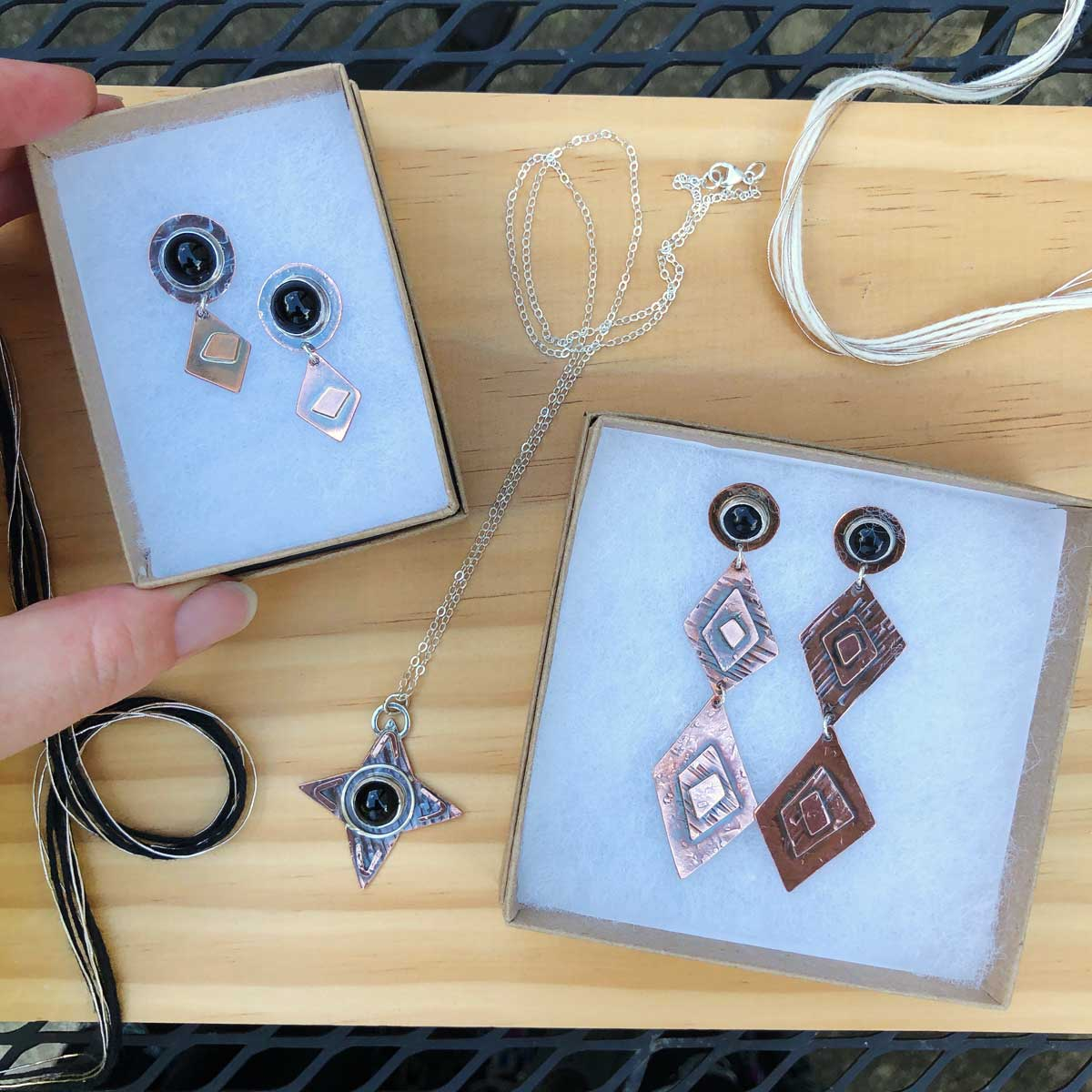 Off Kilter Short Earrings - One of a Kind!