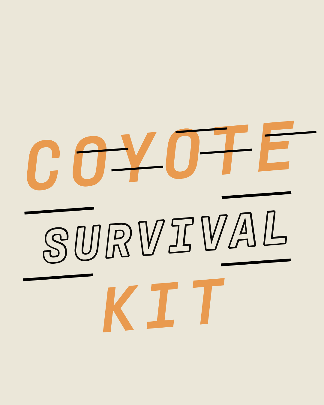 Coyote Survival Kit Branded Box