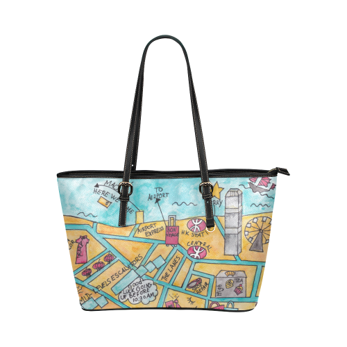 Premium Women's Tote Bag Central Hong Kong - Petit Crayon Studio