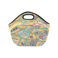 Hong kong central watercolor map gift idea lunch bag for children, colleagues, farewell gift ideas