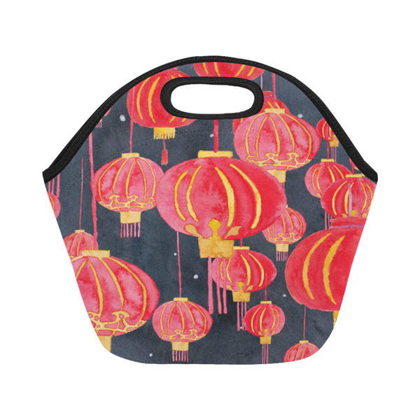 Petit Crayon Studio Hong Kong lanterns lunch bag for school, beach and work, online gift shop sells Hong Kong beach towels, Hong Kong school bags, Hong Kong themed women's clothes