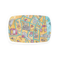 Petit Crayon Studio food container - Hong kong Central watercolor map original gift ideas for teacher and children - Corporate gifts in Hong Kong