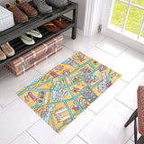 petitcrayonstudio.com original door mat souvenir gift from Hong Kong, watercolor art mat to offer as a gift, souvenir , farewell gift for expatriate or tourist