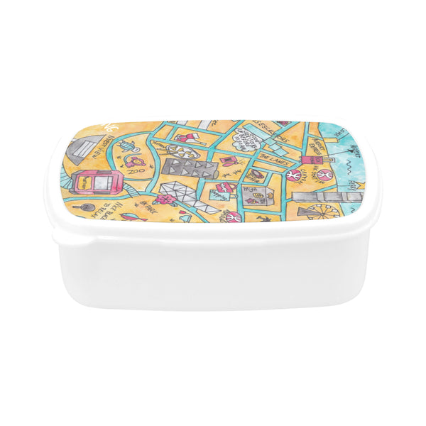 Food container gift idea, Petit Crayon Studio, Watercolor map of Hong kong Central, perfect farewell gift