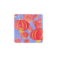 Hong Kong lanterns coaster by Petit Crayon Studio - Buy online store Hong Kong towels - Hong Kong premium Gifts ideas corporate