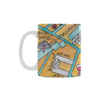 Beautiful map of Hong Kong product, kitchen mug original, Hong Kong Central gift ideas, farewell presents, 企业礼品香港