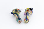 Intricate Inside Out Dichro Pipe with Opal
