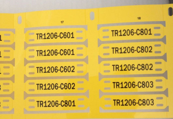 44142 - ETF-ROLL - Cable and Conduit Tags - Precut - Yellow 13mm x 57mm