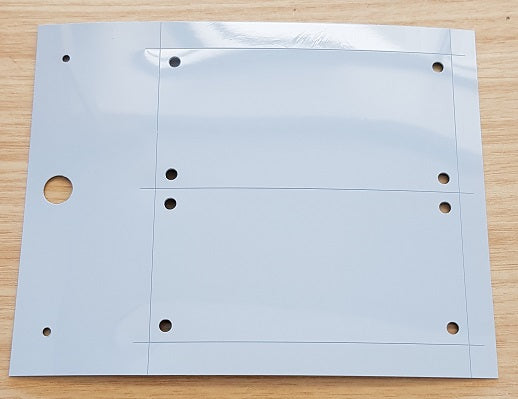 Plate for cable marker and wire marker Cembre