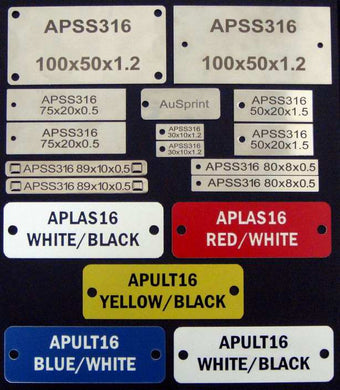APSS316.50.20.15.1H - Stainless Steel Tag
