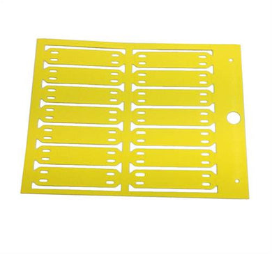 54142 13mm - MG-ETF - Yellow - Cable and Conduit Tags - precut, one piece markers, tie-on