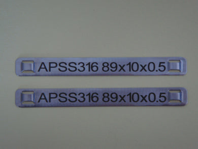 APSS316.89.19.05.2B - Stainless Steel Tag