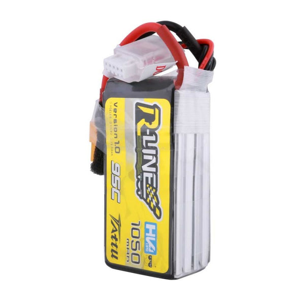 Tattu R-Line 4S 1050 mAh 95C Lipo Battery