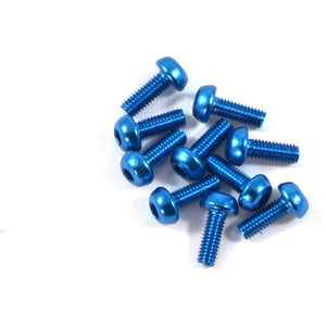 8mm Aluminum Screws - Blue