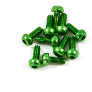 8mm Aluminum Screws - Green