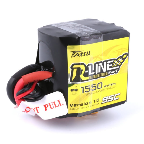 Tattu R-Line 4S 1550 mAh 95C SQUARE LiPo Battery