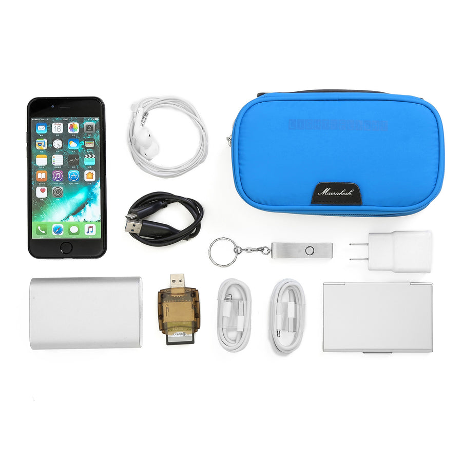 Travel Universal Cable Organizer Electronics Accessories Case For USB, headphones, Charge and Cable