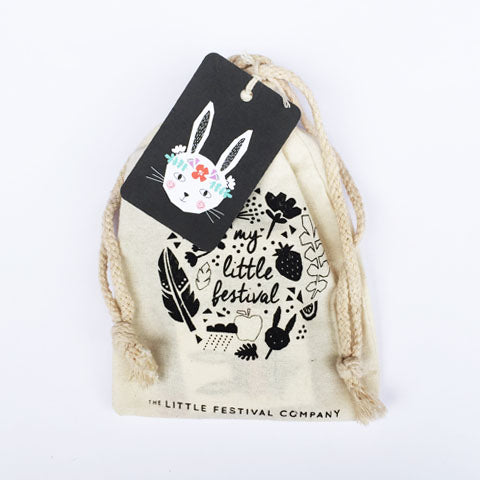 Boho Bunny Party Bag with Tag