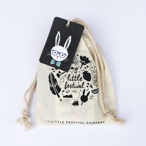 Hipster party bag with tag