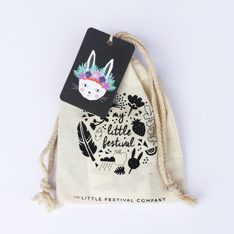 Mermaid Bunny Party Bag with Tag