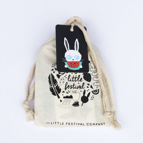 Tropical bunny party bag with tag