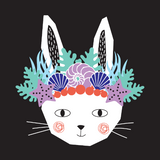 Mermaid bunny illustration