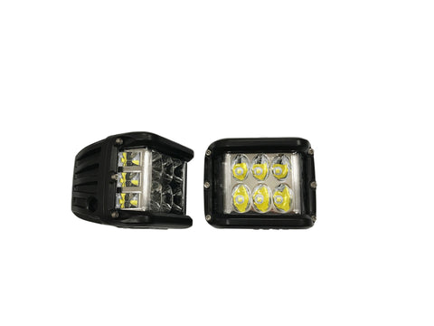 LED Cube Side Shooter Lights - 90W CREE - Pair
