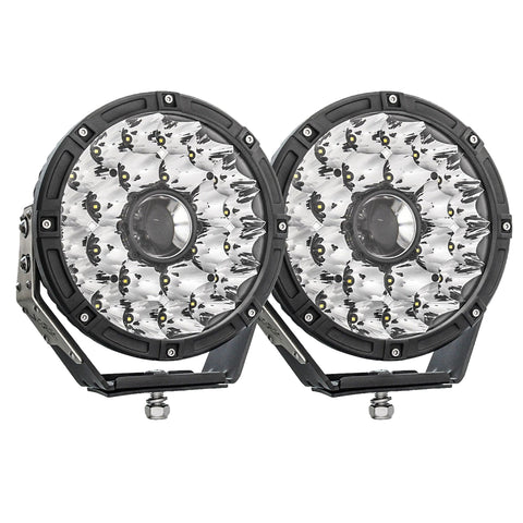 "SLIMS DEPOT Laser LED Round 8.5"" Driving Lights - Pair"