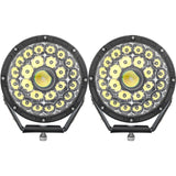 "SLIMS DEPOT Laser LED Round 8.5"" Driving Lights - Front"