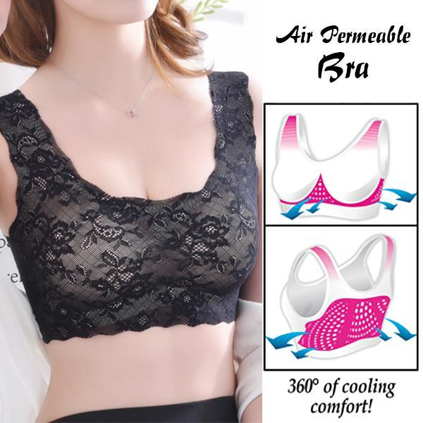 Max Support Air Permeable Rose Floral Bra