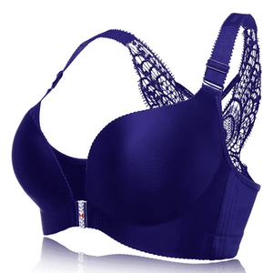 DOUBLE Butterfly Embroidery Front Closure Push-Up Gather Wireless Bras