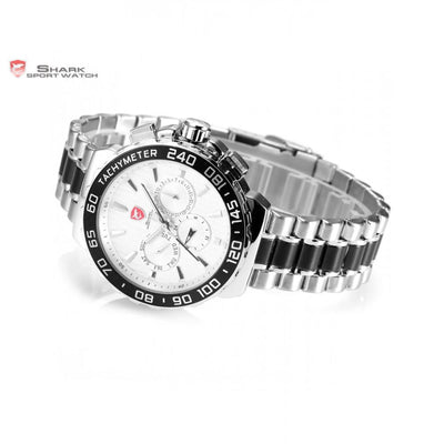 Blacknose Shark Sport Watch Silver/White