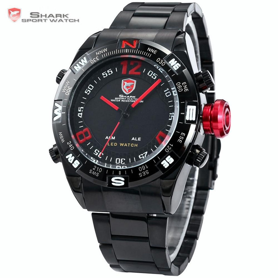 Bullhead Shark Sport Watch Black/Red