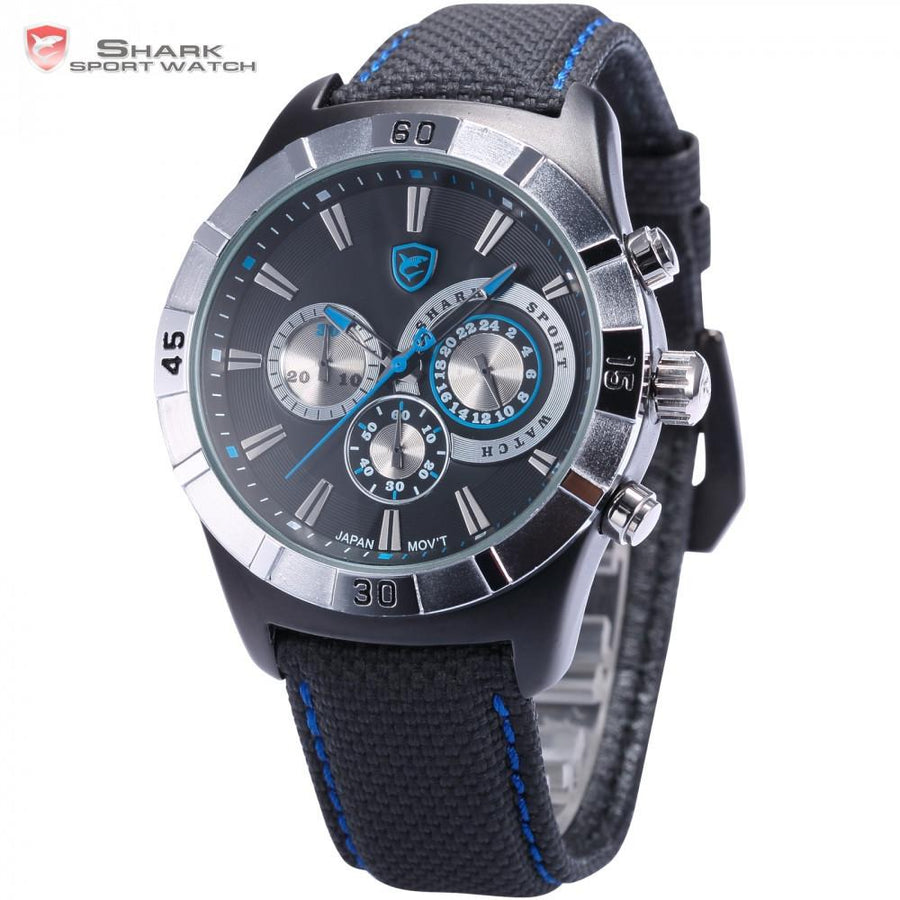 Ganges Shark 2nd Sport Watch Black/Blue
