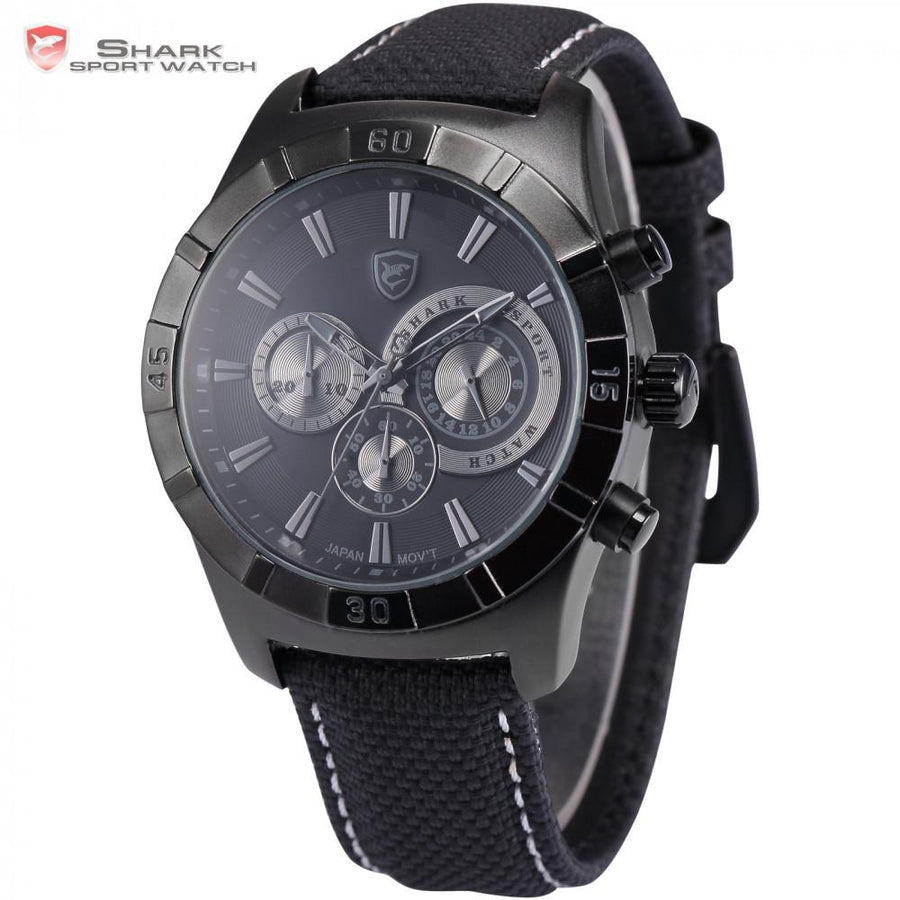 Ganges Shark 2nd Sport Watch Black/Grey