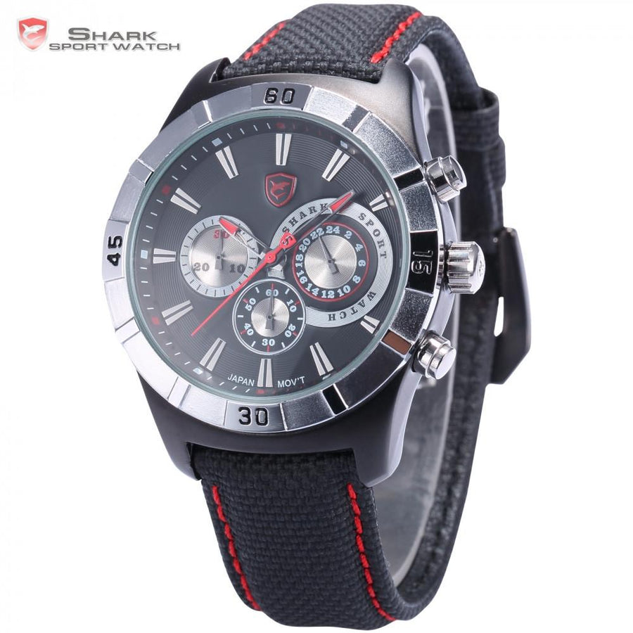 Ganges Shark 2nd Sport Watch Black/Red