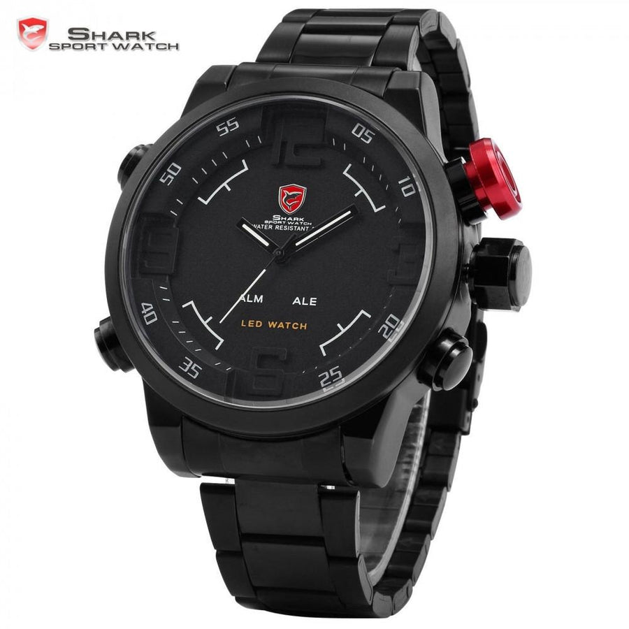 Gulper Shark Sport Watch Black/White/Red