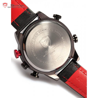 Kitefin Shark Type A Sport Watch Black/Red