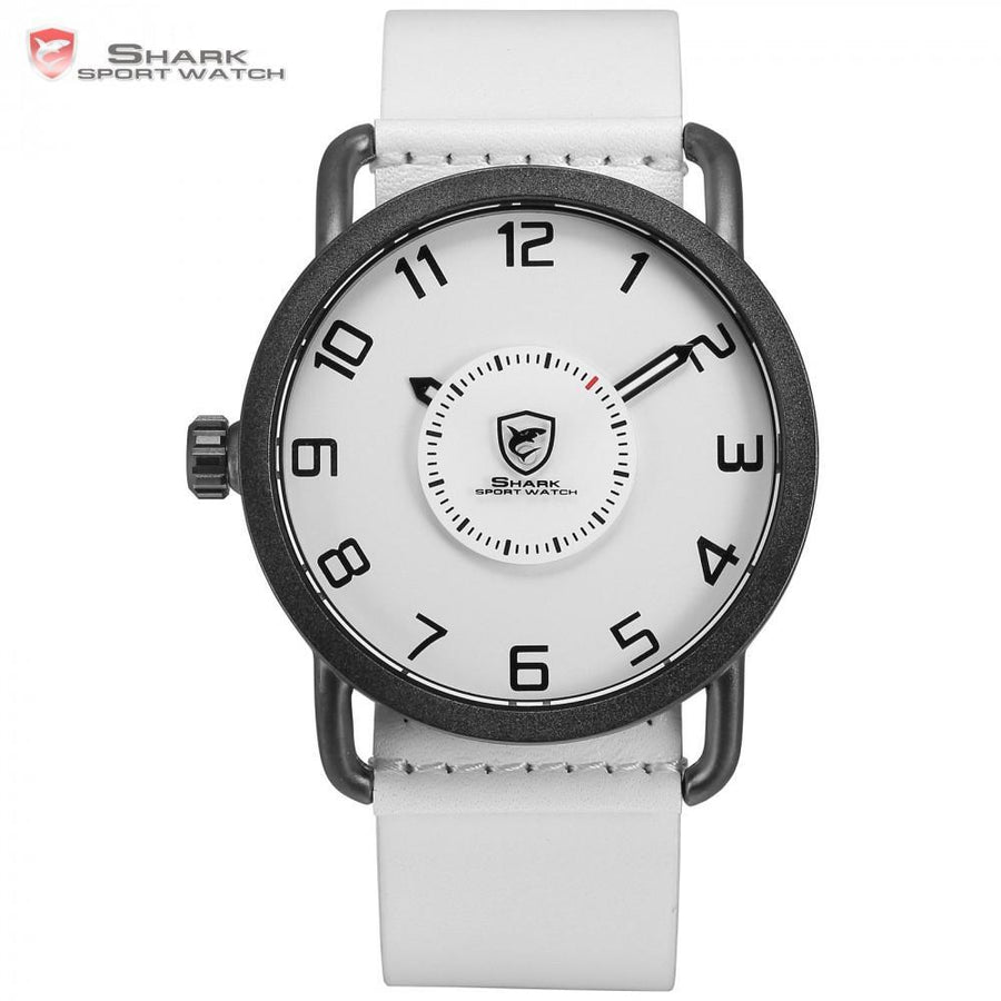 silver watch strap s leather watches men fossil classic dial white