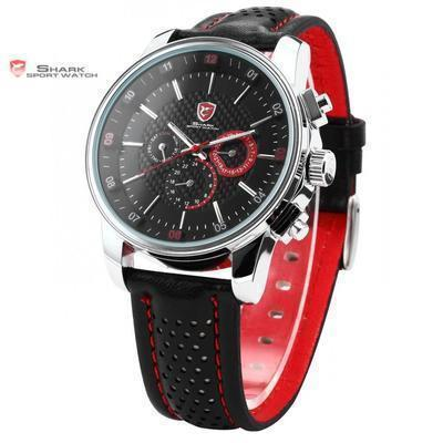 Men Watch - Pacific Angel SHARK Sport Watch Black/Red