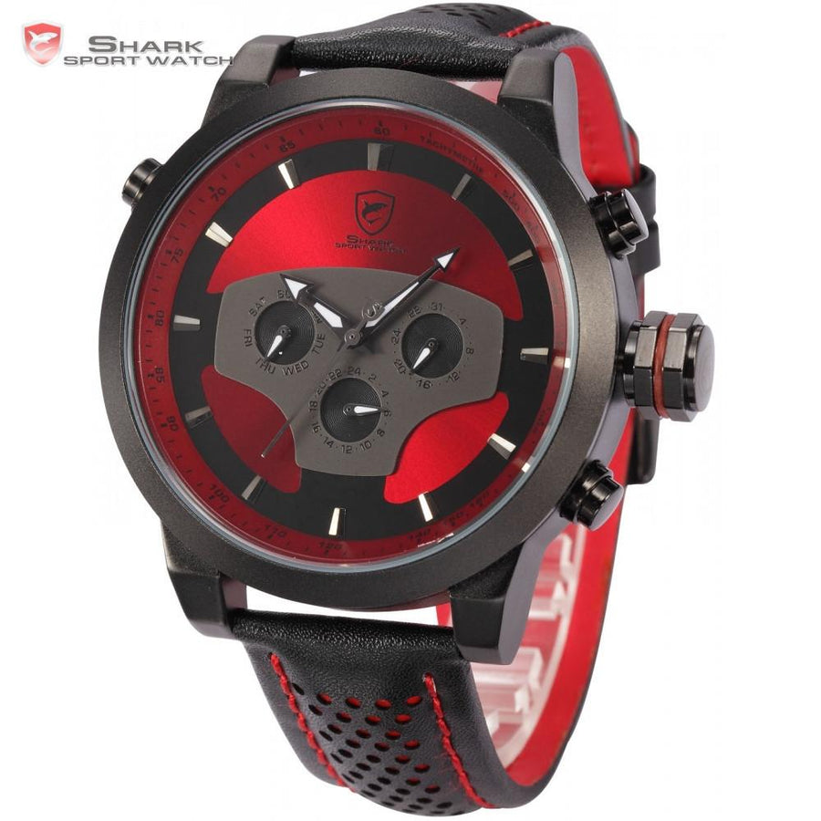 Requiem Shark Sport Watch Red