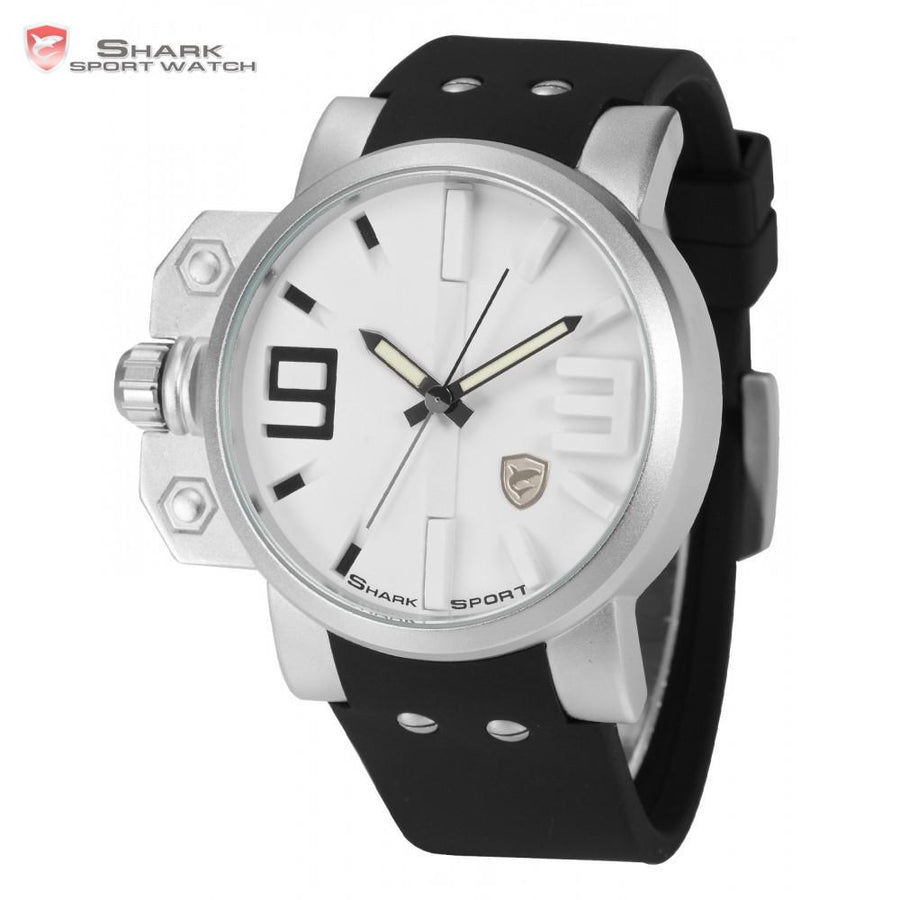 Salmon Shark Sport Watch White