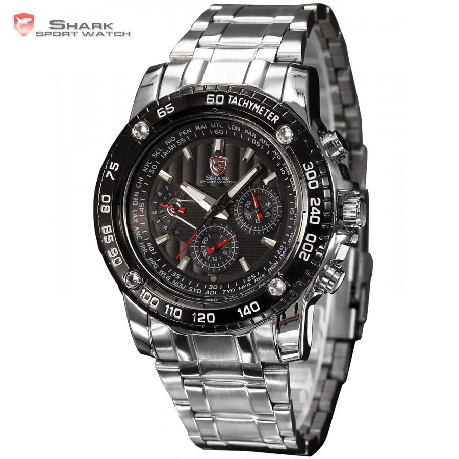 Saw Shark Sport Watch Silver/Black