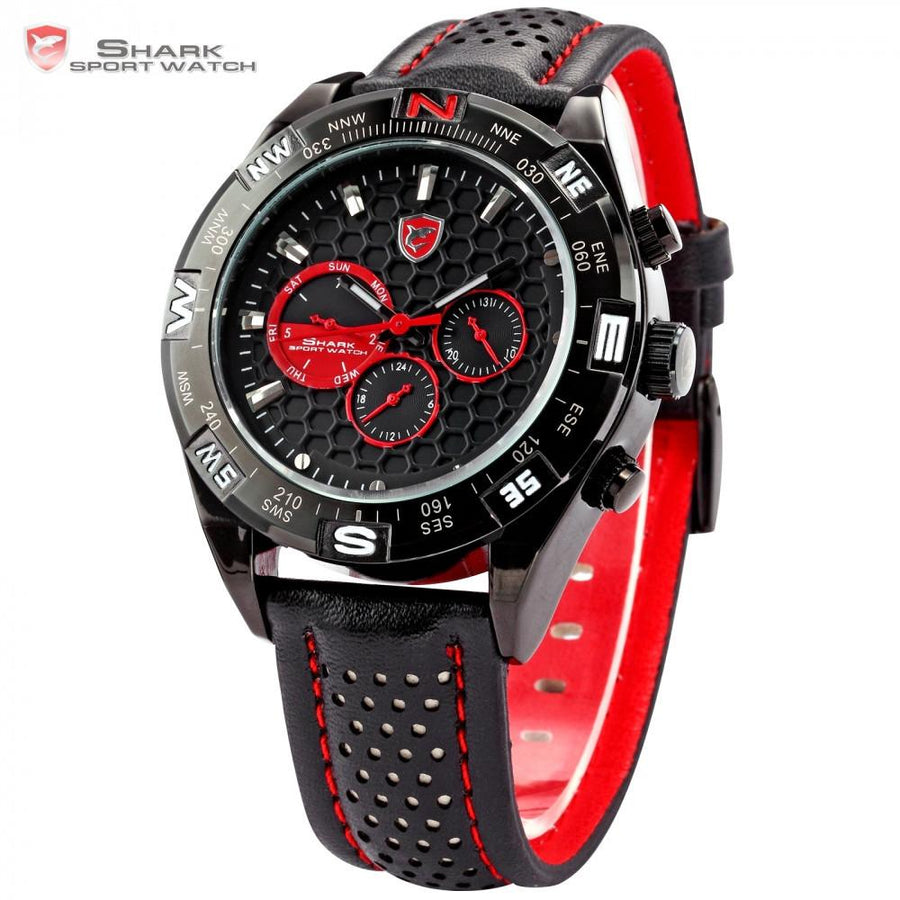 Shortfin SHARK Sport Watch Black/Red