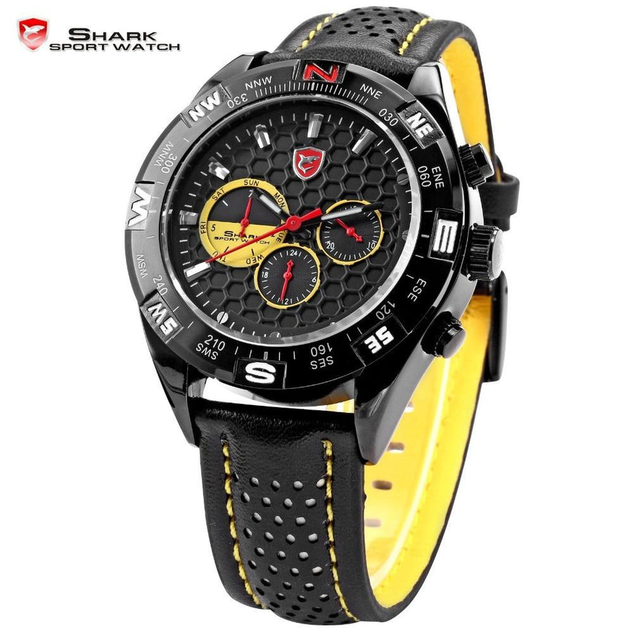 Shortfin SHARK Sport Watch Black/Yellow